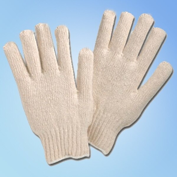Get Men's & Ladies Cotton/Poly String Knit Gloves, 12 pair LIB4517Q at Harmony