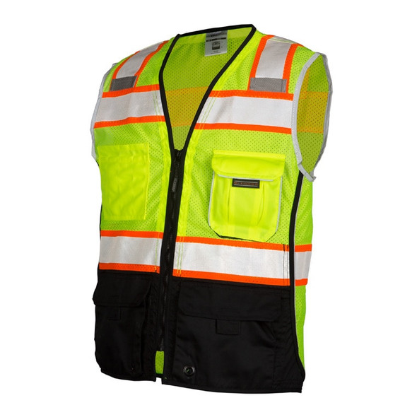 Get ML Kishigo 1515 Premium Black Series Heavy Duty Mesh Safety Vests at Harmony