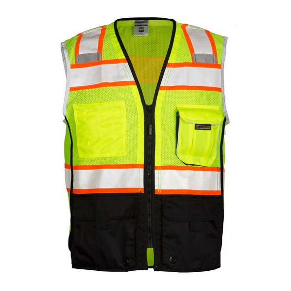 Get ML Kishigo 1515 Premium Black Series Class 2 Heavy Duty Mesh Safety Vests at Harmony