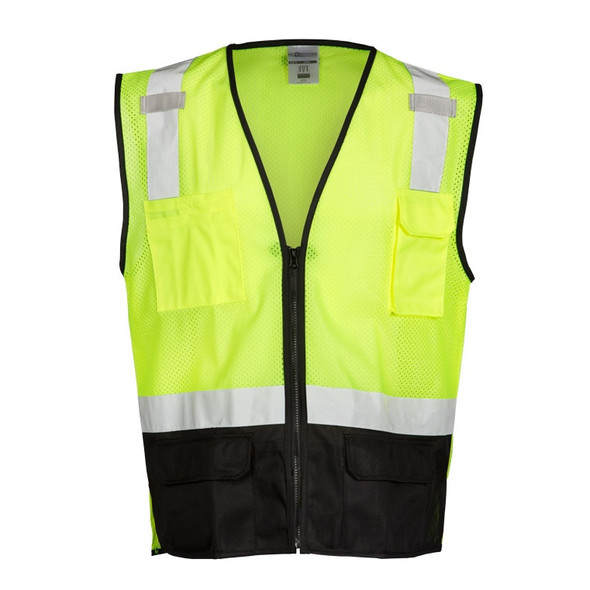 Get ML Kishigo 1509 Class 2 Heavy Duty Mesh Safety Vests, Lime Green, at Harmony