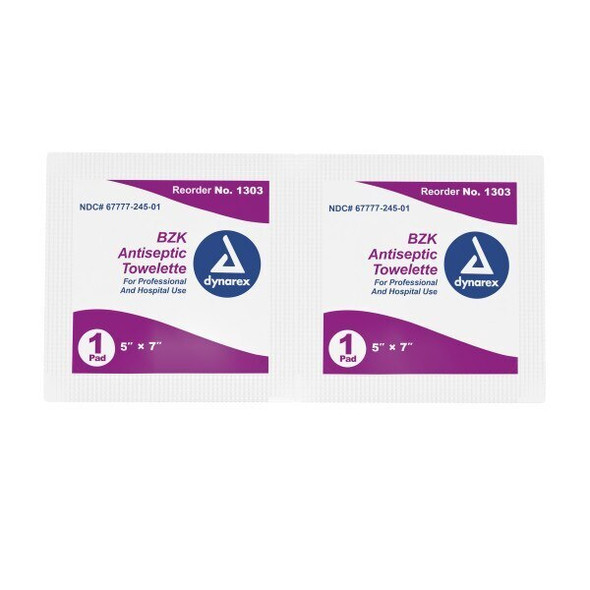 Get Dynarex 1303 BZK Antiseptic Towelettes, 100/box at Harmony