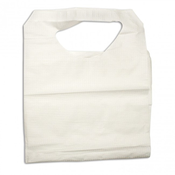 Get Disposable Bibs w/Ties, White, 300/cs, Dynarex 4405 at Harmony