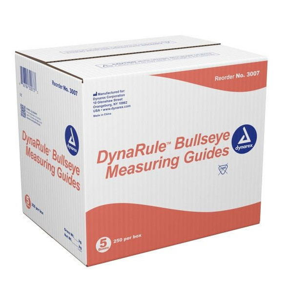 DynaRule Bullseye Wound Measuring Guide, 250/pack