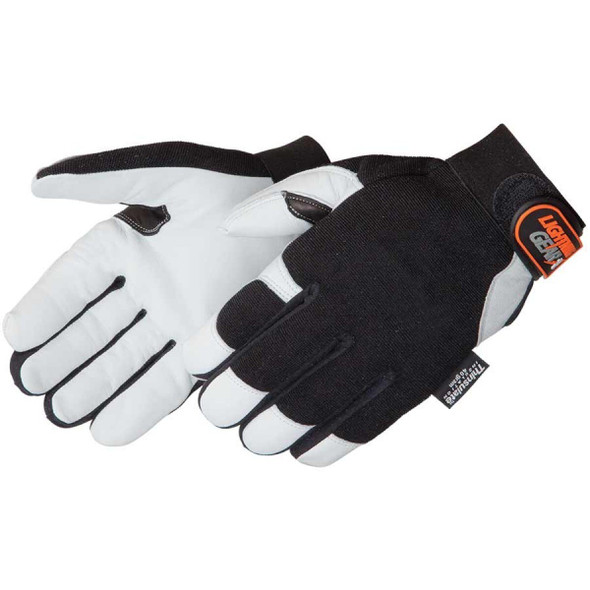 Get Lightning Gear Reinforcer Mechanic's Glove, Lined, Black/White, 1 pair LB0856 at Harmony