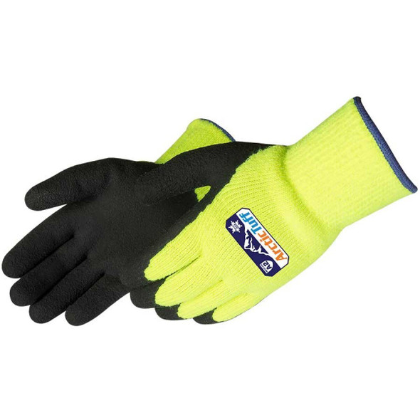 Get Arctic Tuff Foam Latex Coated Gloves with Thermal Shell, Hi-Vis Lime Green/Black LBF4789LG at Harmony