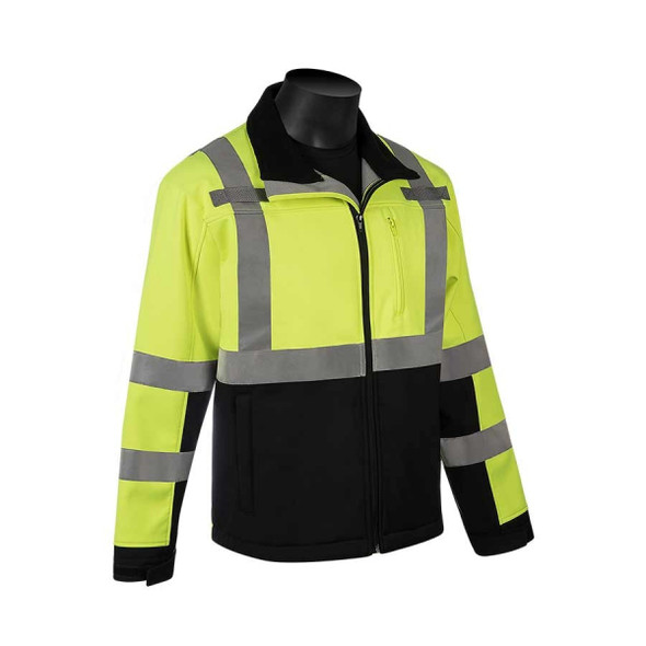 Get HivizGard Class 3 Soft Shell Jacket, Lime Green, ea LB16728GB at Harmony