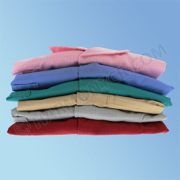 Get ESD Poly/Cotton Lab Coats, Knit Cuff, in multiple colors, ea EC2-STOCK at Harmony