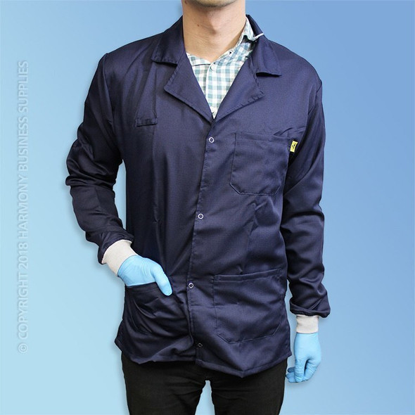 Poly/Cotton ESD Lab Coats, Knit Cuff, Made to Order, each
