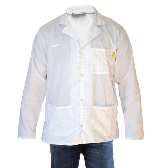 Get Lightweight ESD Lab Coats, Snap Cuff, White, ER1-WH at Harmony