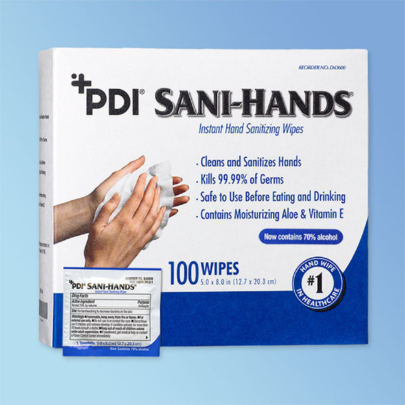 Sani-Hands ALC Antimicrobial Hand Wipes P-D43600 at Harmony