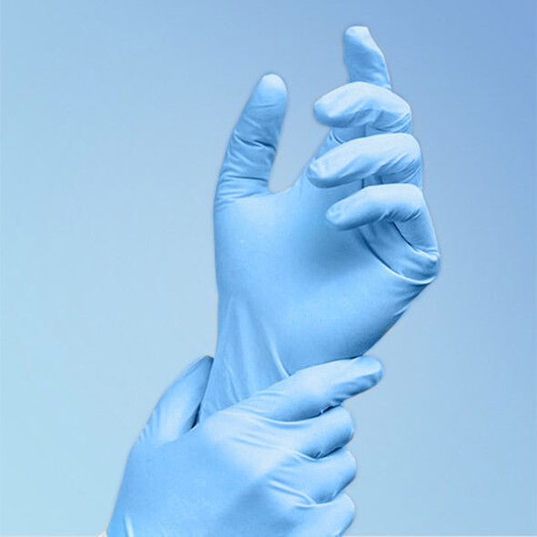 TechniGlove 9.5 in. Blue Nitrile Glove, Class 100, 1000/case