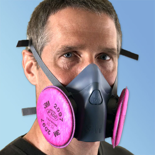 Get 3M Premium 3M 7500 Series P100 Reusable Half Face Respirator Kit (7500P100KIT) at Harmony