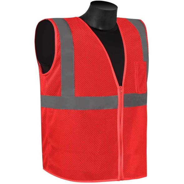 Get HivizGard Class 2 Mesh Safety Vest, Red, each (LBC16002R) at Harmony
