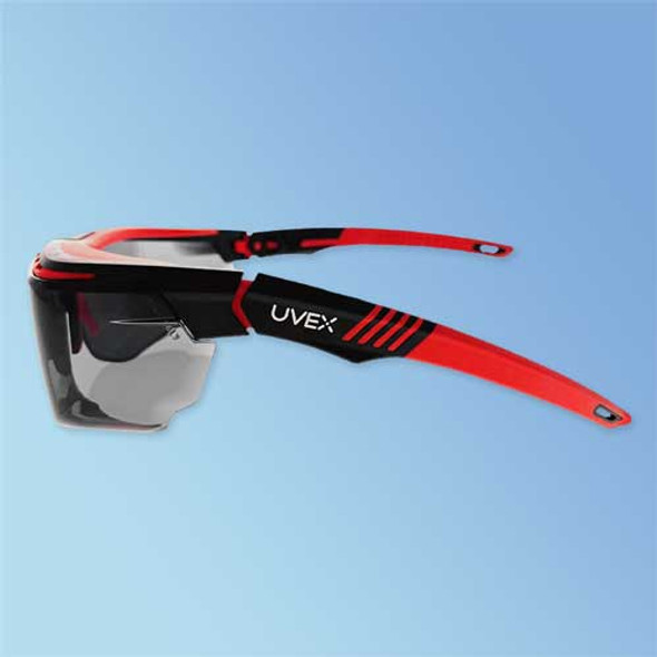 Uvex S3852 Avatar OTG Over-The-Glasses Safety Glasses, Anti-Fog Gray Lens with Pivoting temples