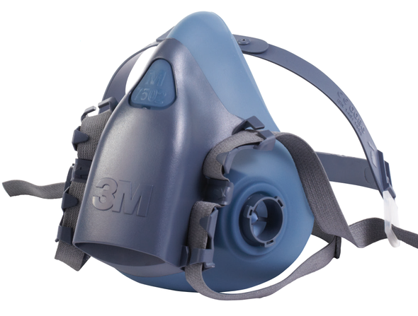 3M 7500 Series Premium Reusable Half Face Respirator, ea (LAG-7500) - Front Angle - Harmony Lab & Safety Supplies