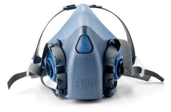 3M 7500 Series Premium Reusable Half Face Respirator, ea (LAG-7500)) - Front - Harmony Lab & Safety Supplies