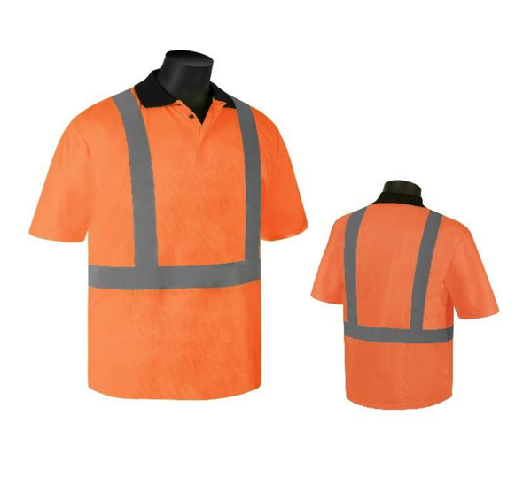 Get HivizGard Class 2 Mesh Safety Polo Shirt, Short Sleeves, Orange, each (C16500F) at Harmony