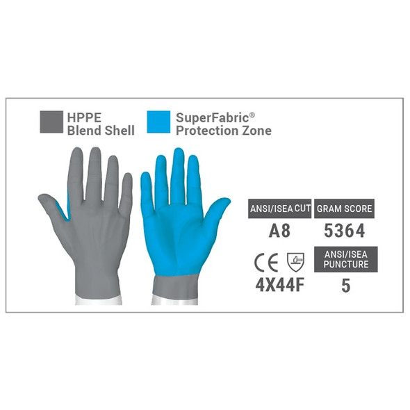 SuperFabric Protection Zone covers palms and fingers - HexArmor® - 9000 Series™ 9010  Puncture & Cut Resistant Gloves with Nitrile Palm Coating at Harmony