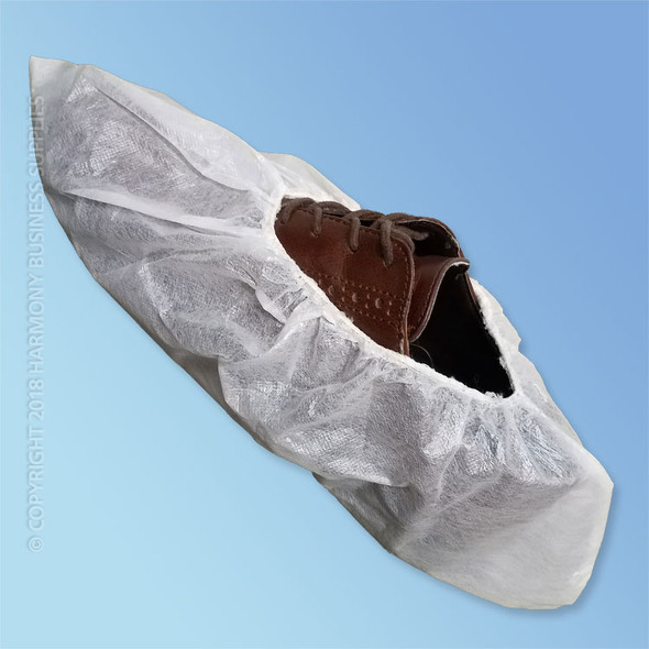 Get Keystone Polyethylene Coated Shoe Covers, White, 100/pair (HSC-AP) at Harmony