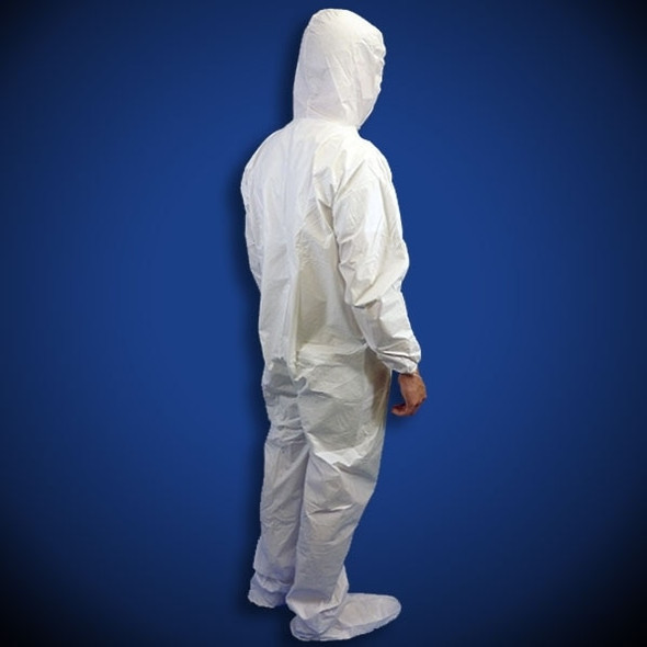 Liberty PermaGard (C18122) White Microporous Coveralls with Hood & Boot