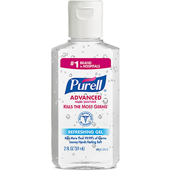 Get Purell Instant Hand Sanitizer, 2 oz, Flip Top Bottle, 24/cs (GOJ960624F) at Harmony