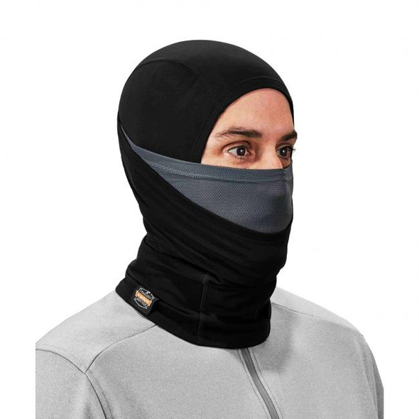 Ergodyne N-Ferno 6838 Solar-Activated Dual-Layer Balaclava, Black, at Harmony Lab & Safety Supplies