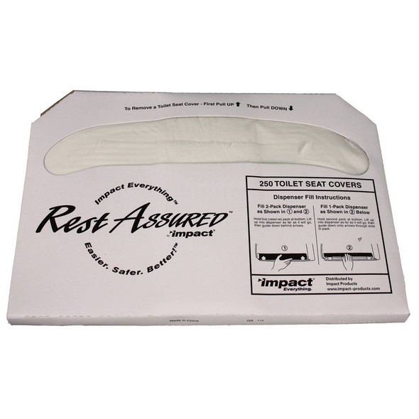Rest Assured Toilet Seat Covers, 5000/case (IMP25177673) by Harmony Lab & Safety Supplies