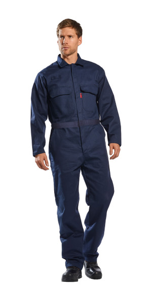 Get Bizflame 88/12 AR/FR Coverall, Arc Flash CAT 2, Navy (UFR88) by Harmony Lab & Safety Supplies