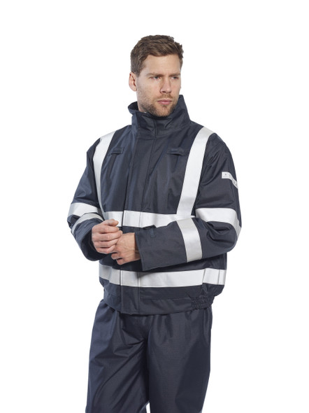 Get Bizflame Flame Resistant Bomber Jacket, Navy (S783NRR) at Harmony Lab & Safety Supplies