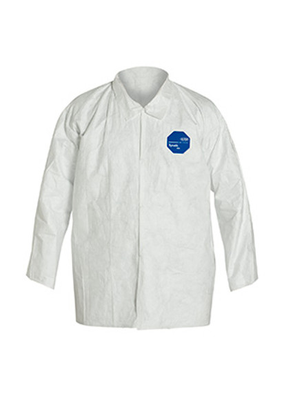 Tyvek TY303S Shirts, Open Wrist, Snap Front, 50/case | Harmony Lab and Safety Supplies