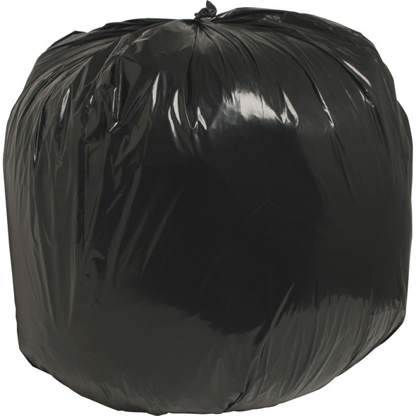 "Nature Saver 00990 40"" x 46"" Black Low Density Trash Can Liner, 40 Gal Black, 1.25 Mil, 100/case 