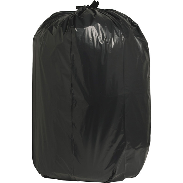 Nature Saver 00994 Black Low Density Trash Can Liners, 38 x 58 in., 55 Gal, 1.65 Mil, 100/case | Harmony Lab and Safety Supplies