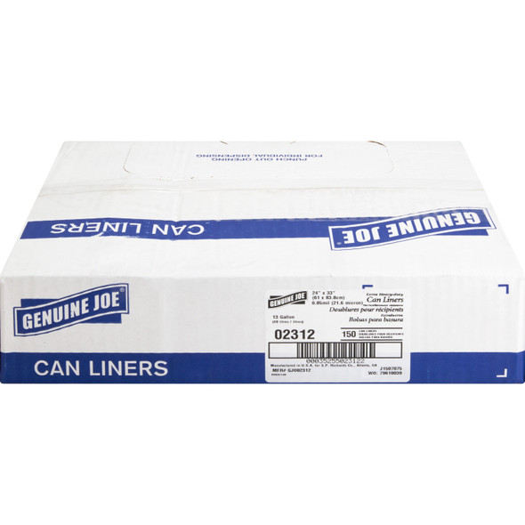 Clear Low Density Trash Can Liners, 24 x 33 in., 7-10 gal, .85 Mils, 150/case (GJO 02312) | Harmony Lab and Safety Supplies