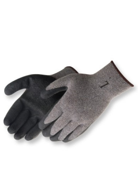 Liberty Glove and Safety 4729SP A-Grip Latex Coated Glove, Black/Gray, 12/pair | Harmony Lab and Safety Supplies