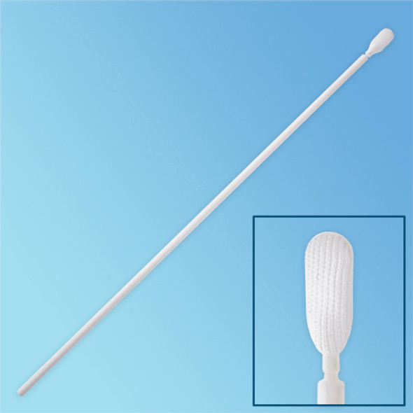 "TekniPure TekniSwab 9"" Knitted Polyester Flexible Paddle Tip Swab, Polypropylene Shaft (TS-P-9) 