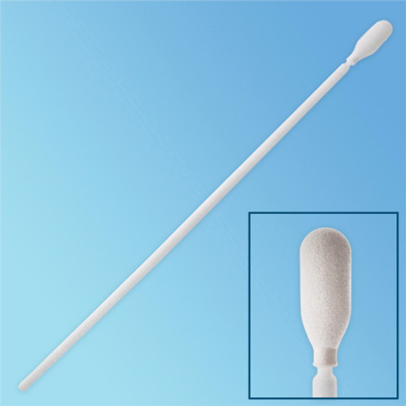 "TekniPure TekniSwab 6"" Elongated High Density Foam Tip Cleanroom Swab, Polypropylene Shaft, 50/bag (TS-FHD-6) 