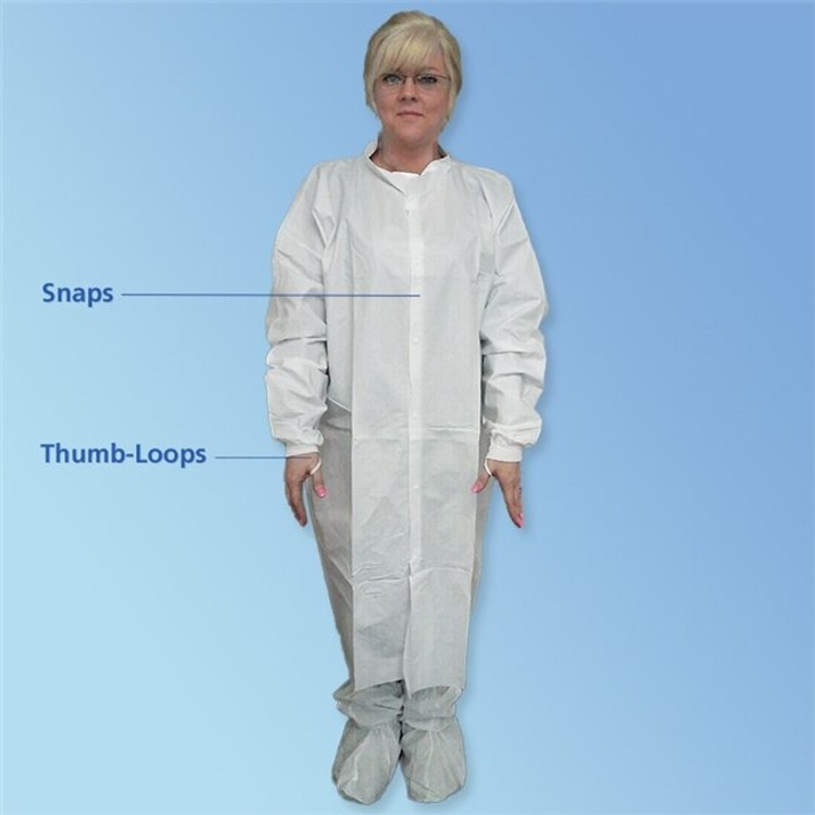 Get KeyGuard ISO 6 Microporous Cleanroom Frocks, Knit Wrist, No Pockets, White, 30/cs T251-CE at Harmony