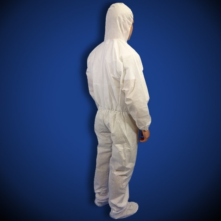 Liberty Glove ProGard (19122) SMS White Coveralls with Hood & Boot
