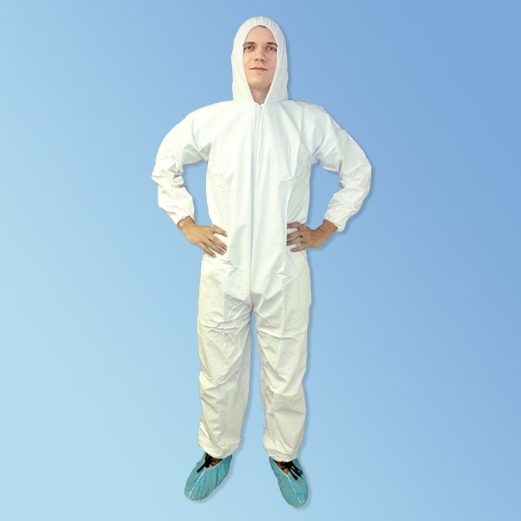 Get KeyGuard White Microporous Coveralls with Hood, 25/cs T185-MPC at Harmony