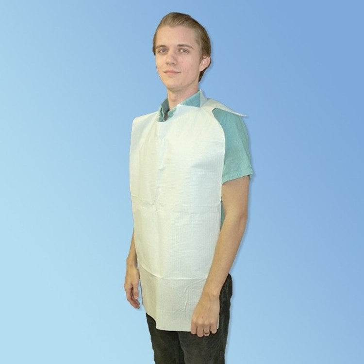 Get Large Disposable Slip-On Adult Bibs, White, 150/cs NON24265 at Harmony