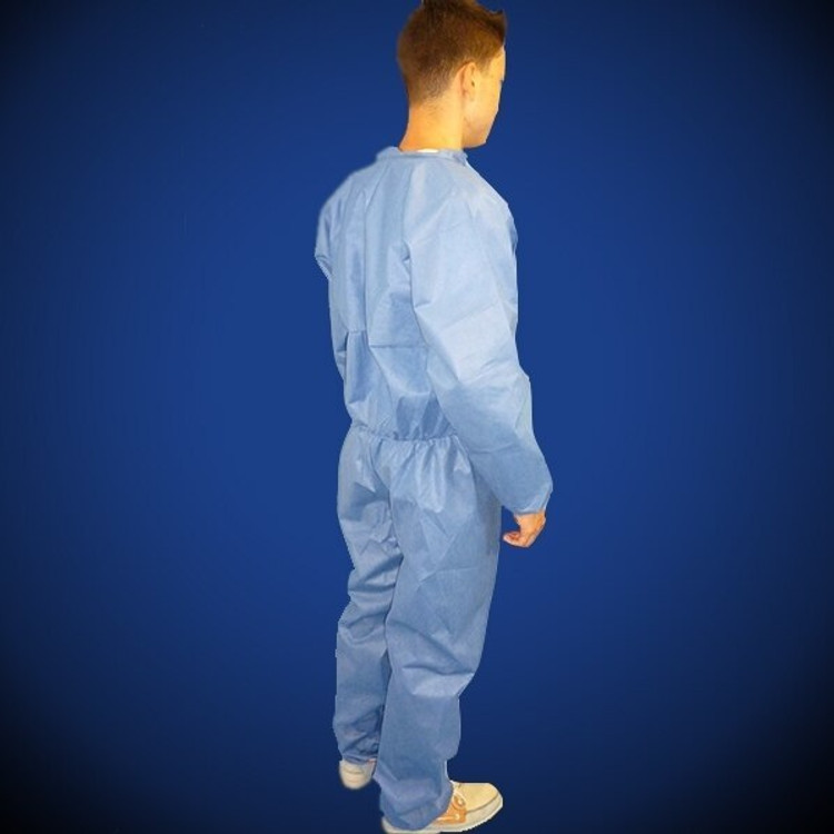 Liberty Glove ProGard (19125B) Blue SMS Coveralls with elastic wrist and ankles