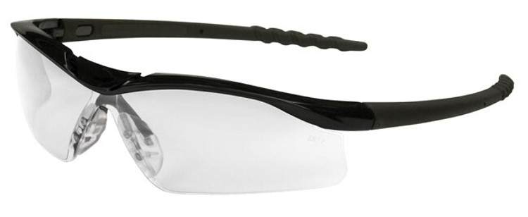 Get Crews Dallas Wraparound Safety Glasses, Clear Lens, Black Frame, ea LCDL110 at Harmony