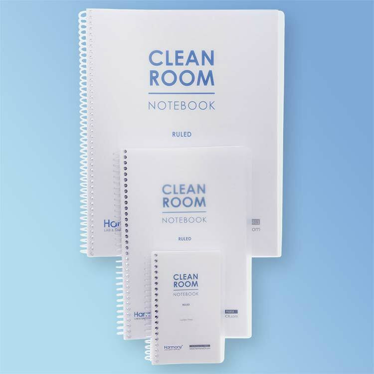 Get Cleanroom Notebook, 28#, Ruled, 100 Pages, at Harmony Lab & Safety Supplies