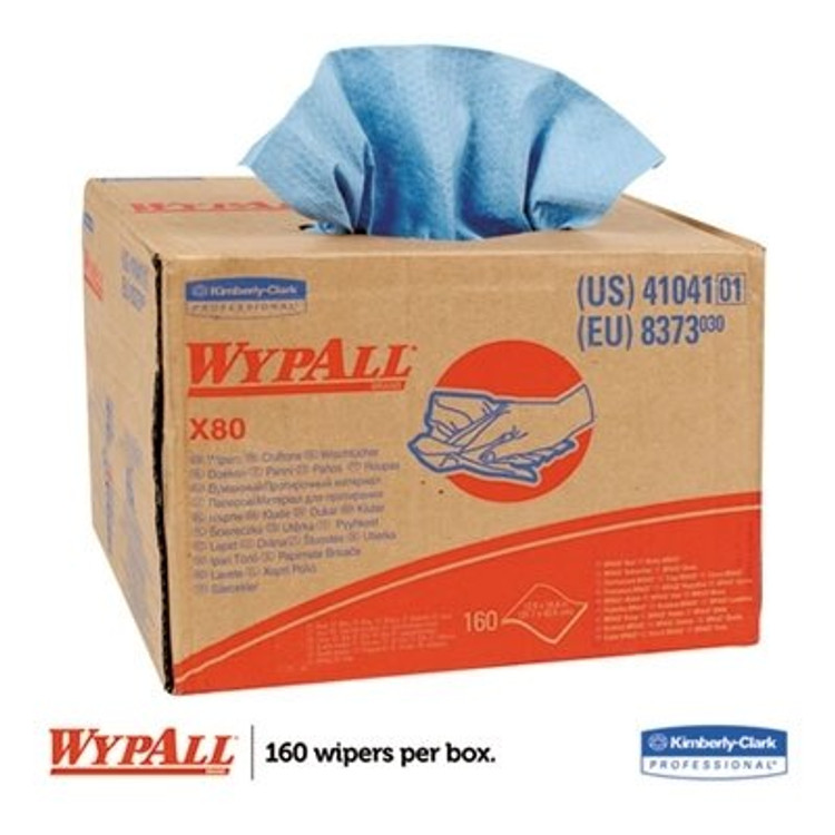 "Get Wypall X80 HydroKnit Wipes, 12.5"" x 16.8"", BRAG Box, 160/box L41041 at Harmony"