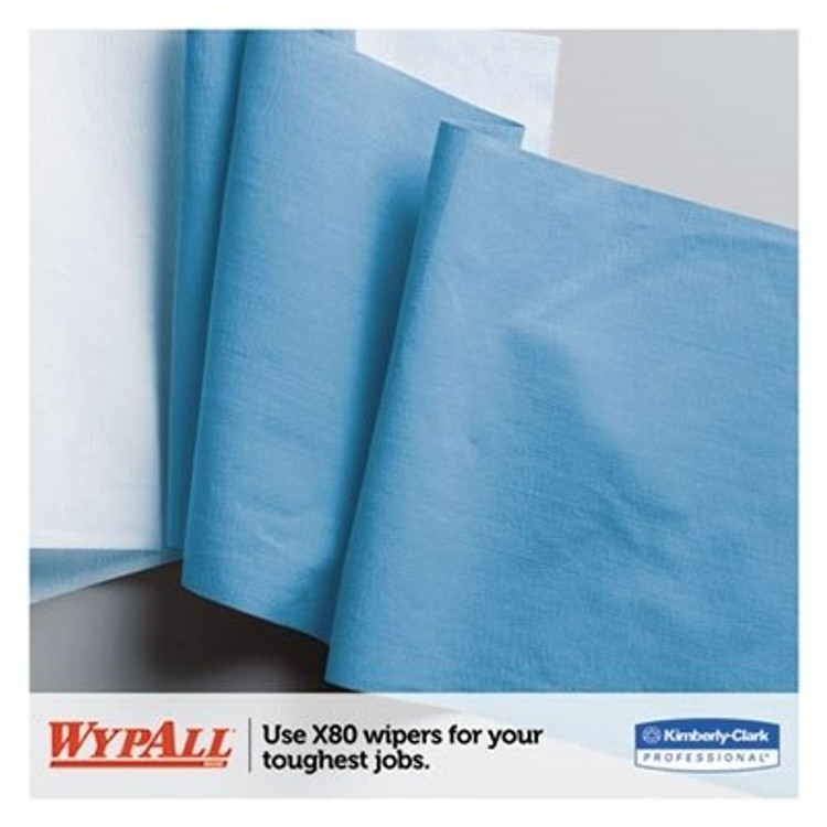 Wypall X80 HydroKnit Wipes, 12.5 x 16.8 in., BRAG Box, 160/box