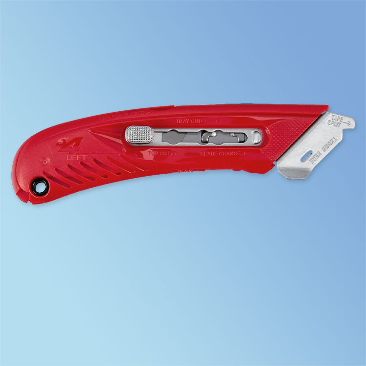 Left-Handed S4 Red Safety Utility Knife (BKN11-S4) Pacific Handy Cutter