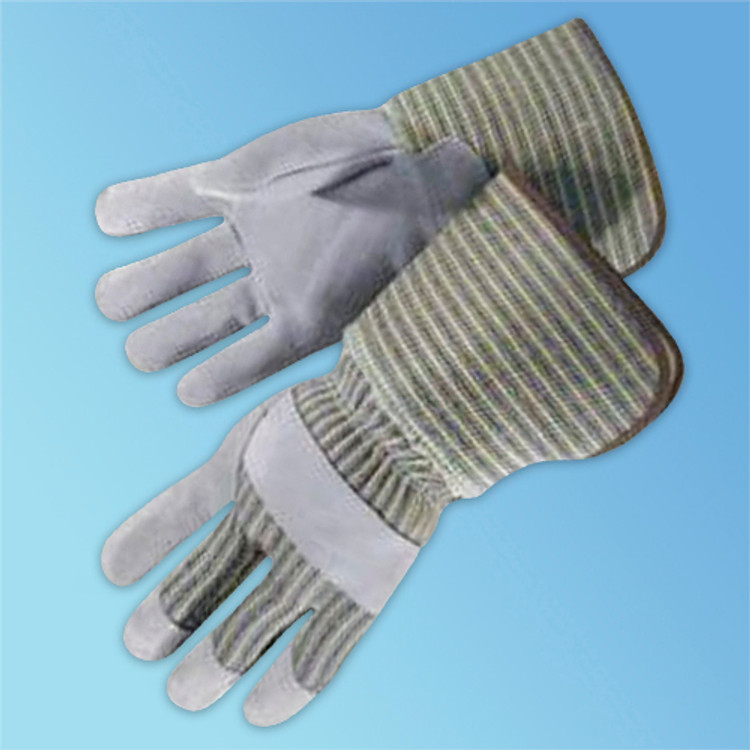 Leather Palm Glove with Gauntlet Cuff, 12/pair