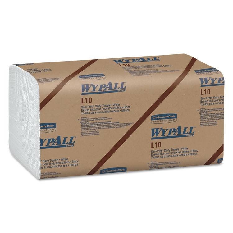 Wypall L10 Sani-Prep Dairy Towels, 9.3 x 10.5 in., 2400/case   Harmony Lab and Safety Supplies