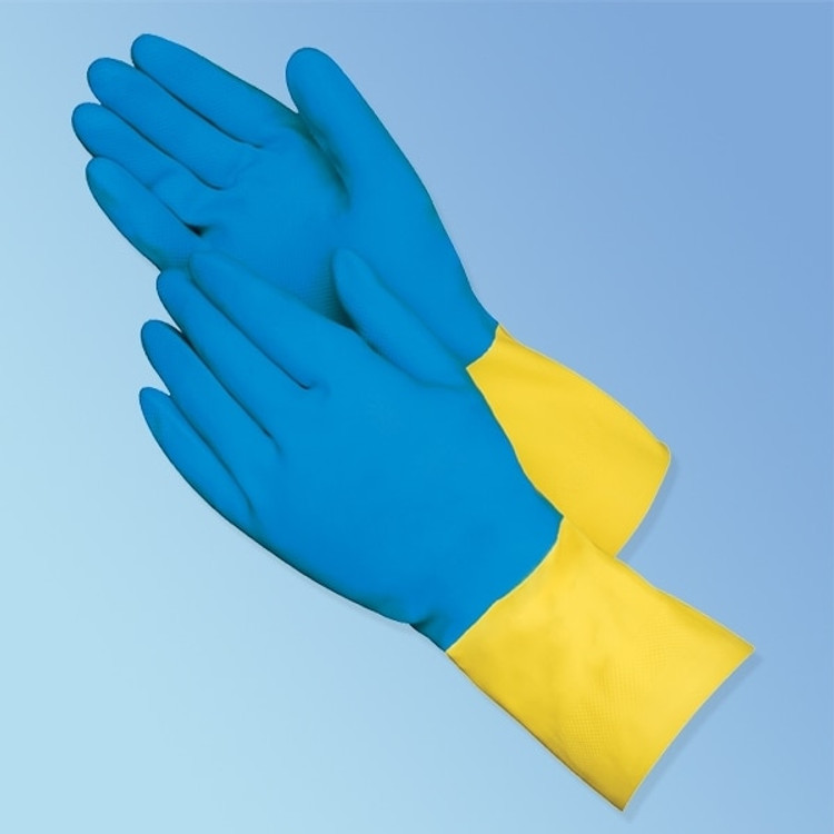 "Get 13"" Neoprene Coated Latex Gloves, 28 mil., 12 pair LIB2570SP at Harmony"