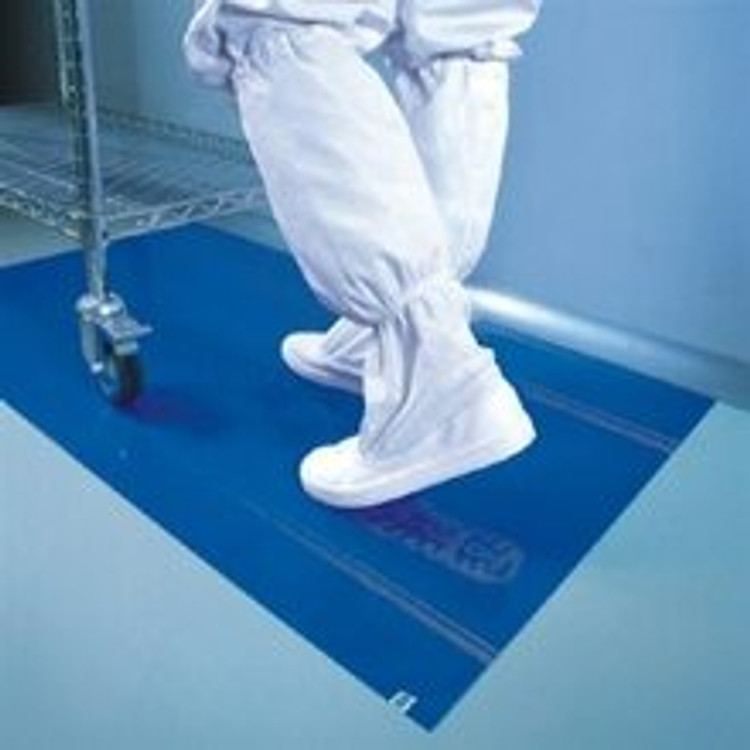 """Get Cleanroom Adhesive Mats, 18"""" x 36"""", Blue, 4/case TMAT1836-BE at Harmony Lab & Safety Supplies"""
